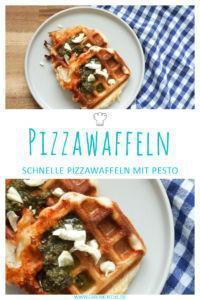 Schnelles Rezept für Pizzawaffeln mit Mozzarella und Pesto » superschnelle Tomatensoße und richtig lecker!
