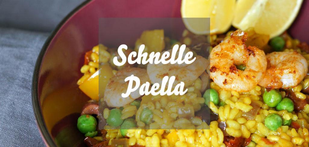 Schnelle Paella mit Erbsen selber kochen » einfaches Paellarezept