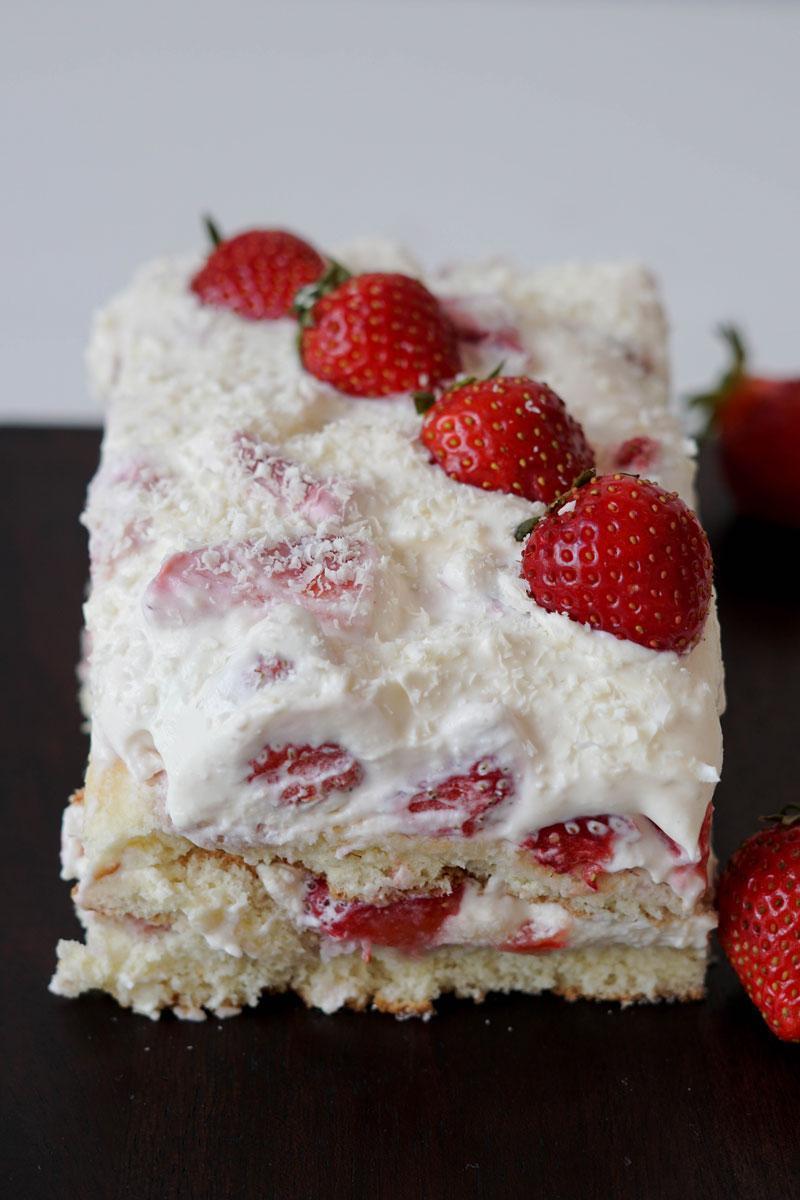 Erdbeertiramisù-Torte selber machen