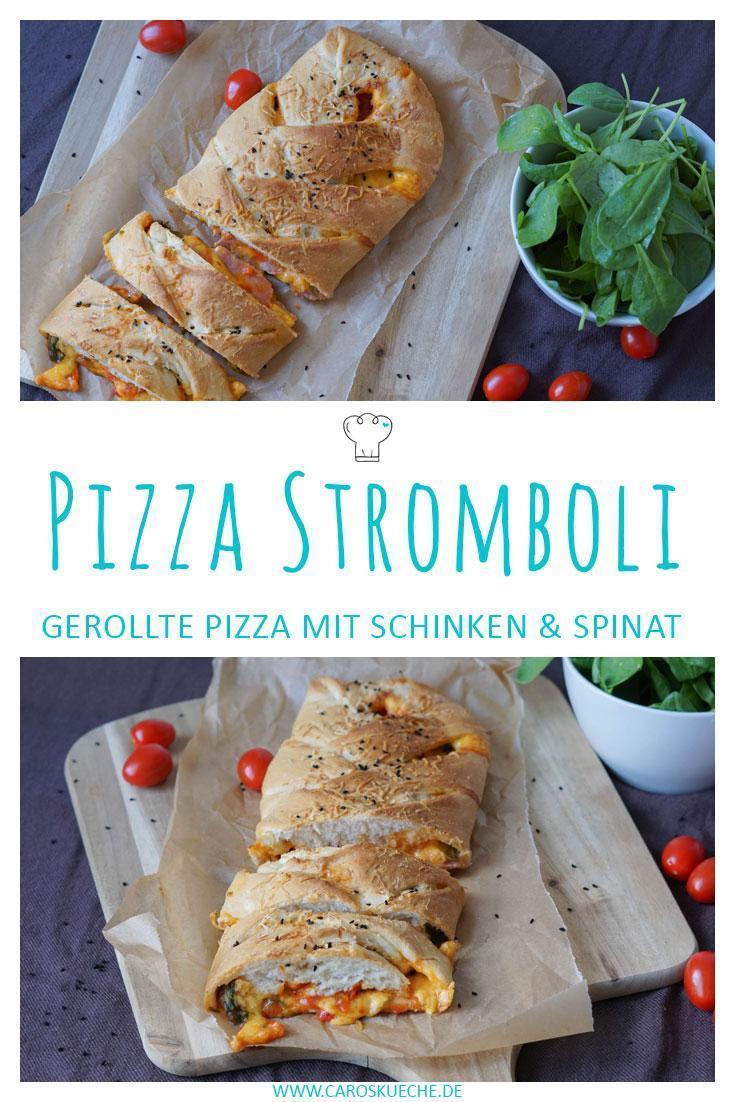 Pizza Stromboli » Leckere Pizzarolle mit Füllung