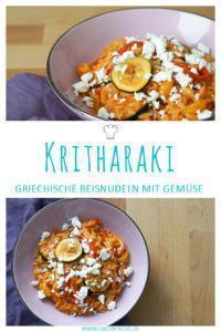 Griechische Kritharaki Rezept mit gegrilltem Gemüse