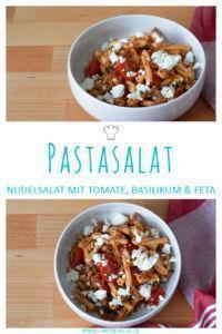 Italienischer Nudelsalat mit rotem Pesto & Basilikum » Schneller & leckerer Pastasalat
