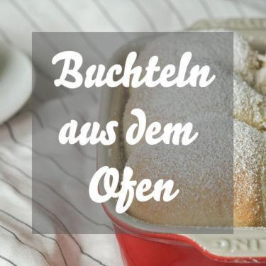 Buchteln Rezept » Fluffige Hefebuchteln aus dem Ofen mit Mangofüllung