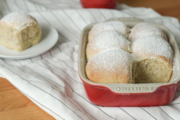 Buchteln aus dem Ofen » Rezept für Buchteln mit Mangofüllung