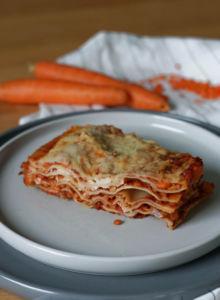 Vegane Linsenlasagne mit Karotten