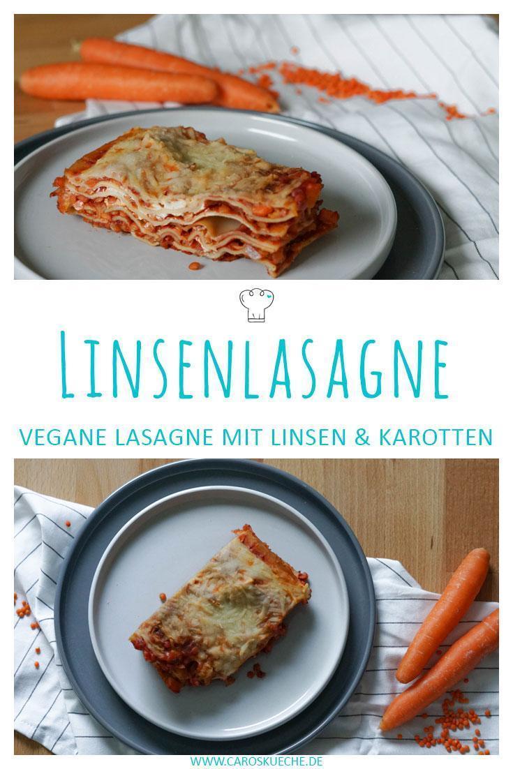 Linsenlasagne vegan mit Karotten