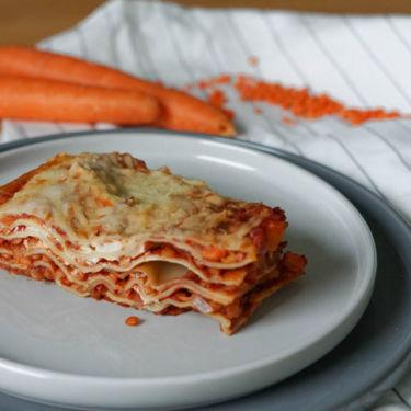 Vegane Linsen-Möhren-Lasagne