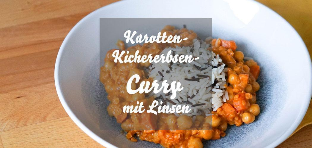 Karotten-Kichererbsen-Curry mit Linsen