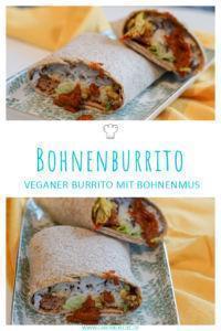 Veganer Burrito mit Bohnenpaste
