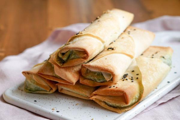 Sigara böreği mit veganer Spinatfüllung