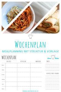 Essen mit Struktur: Wochenplan Download