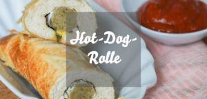 Hot-Dog-Rolle vegetarisch mit Currysoße