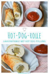 Vegane Hot-Dog-Rolle aus Laugenteig