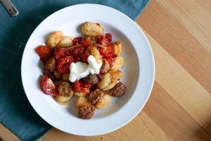 Gnocch aus dem Ofen mit Gemüse & Aioli
