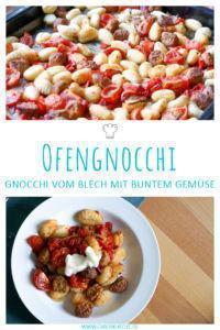 Vegane Gnocchi vom Blech mit buntem Gemüse & Würstchen