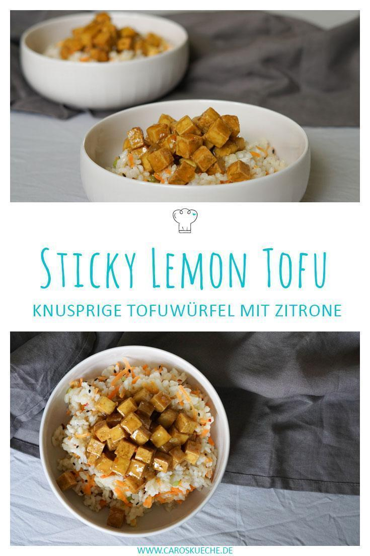 Sticky Lemon Tofu » Vegane Sticky Lemon Bowl
