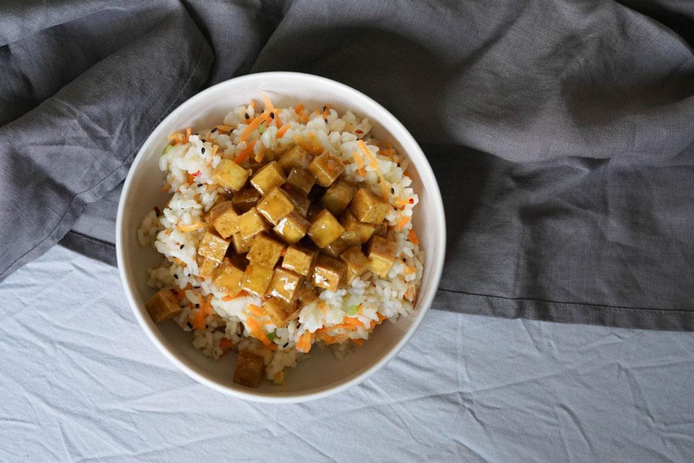"""Tofu mit Zitronensoße """"Sticky Lemon"""""""