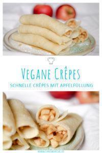 Rezept für vegane Crêpes oder vegane Pfannkuchen