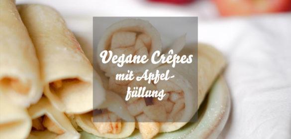 Vegane Crêpes mit Apfelfüllung » Rezept für schnelle vegane Eierkuchen