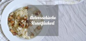 Vegane Krautfleckerl » Klassiker aus Österreich mit Nudeln und Weißkohl