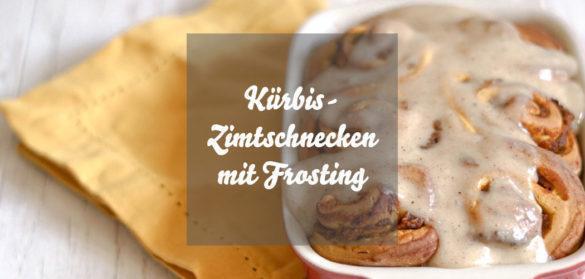 Kürbis-Zimtschnecken mit Frischkäsefrosting