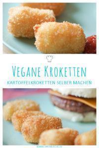 Vegane Kartoffelkroketten selber machen » Einfaches Krokettenrezept