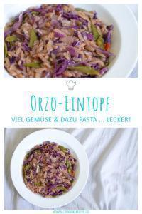 Orzotto veganer Orzo-Eintopf mit viel Gemüse