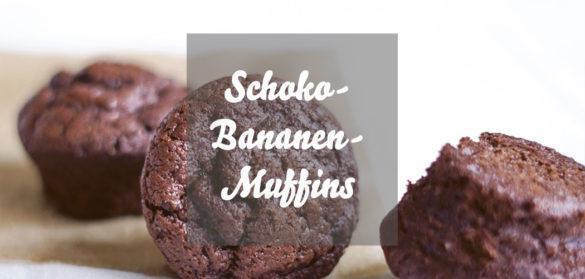 Schoko-Bananenmuffins » vegane Schokomuffins
