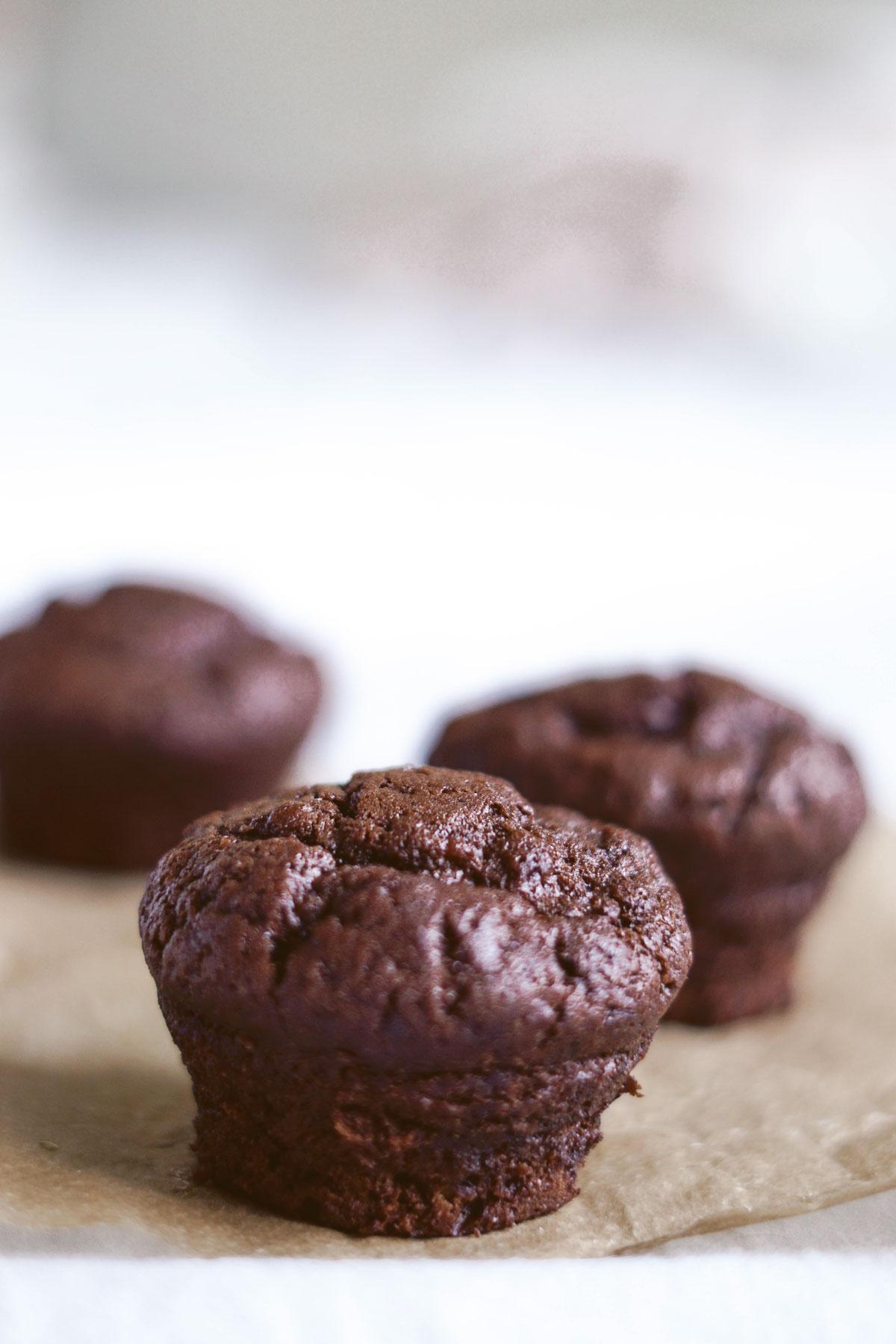 Vegane Schoko-Bananen-Muffins