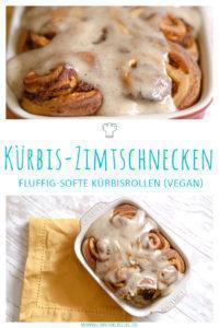 Kürbis-Zimtschnecken mit Kürbispüree & Frosting