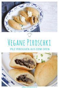 Vegane Piroschki mit Champignonfüllung aus dem Ofen