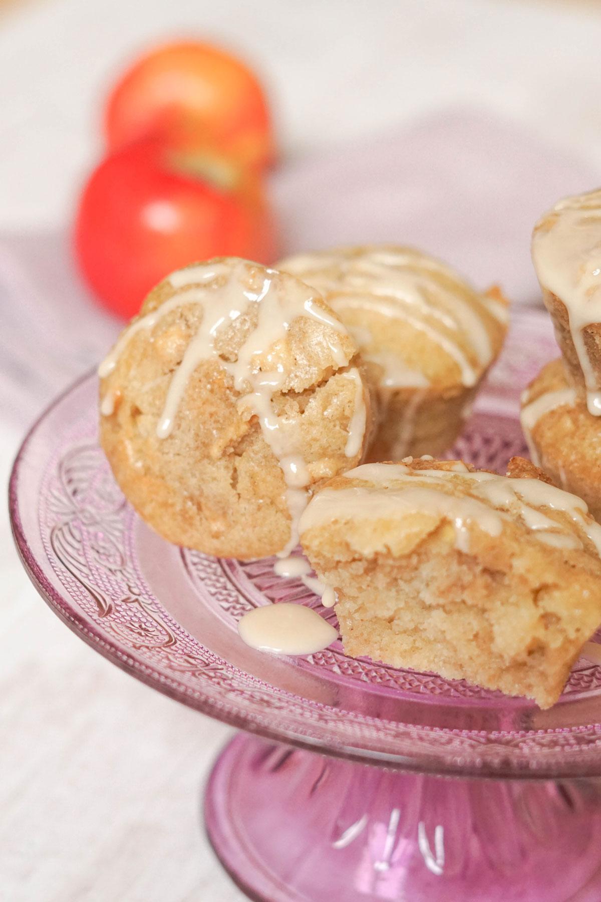 Vegane Apfelmuffins mit weihnachtlichen Gewürzen