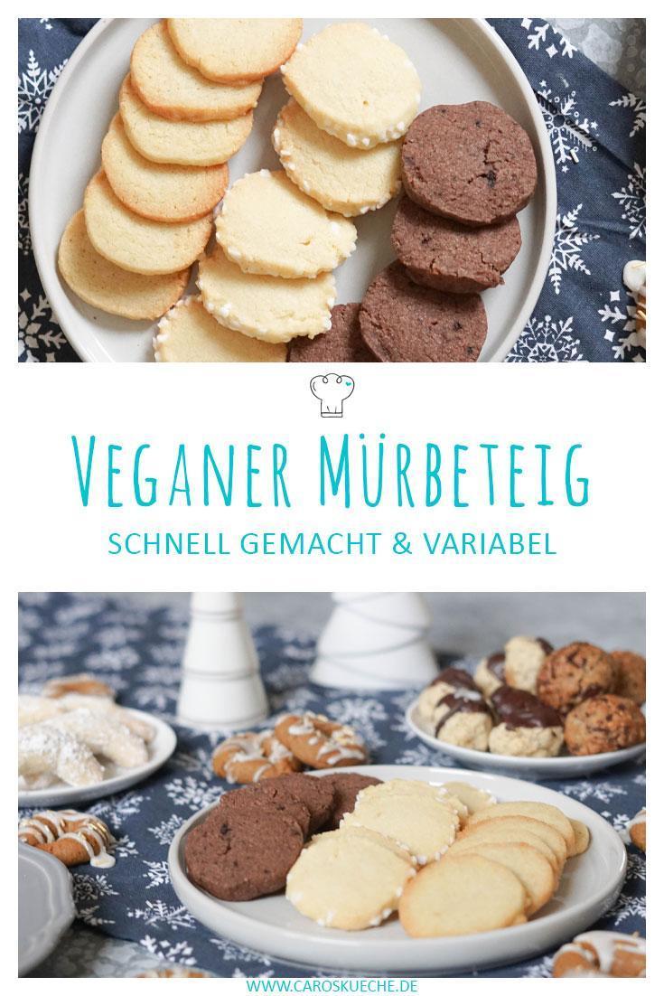 Veganger Mürbeteig » einfaches und schnelles Plätzchenrezept