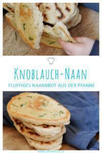 Veganes Knoblauch-Naan » Rezept für einfaches Naanbrot