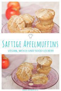 Saftige vegane Apfelmuffins ohne Ei