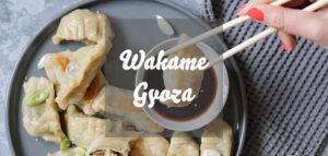 Vegane Wakame-Gyoza mit Algen und Reis gefüllt