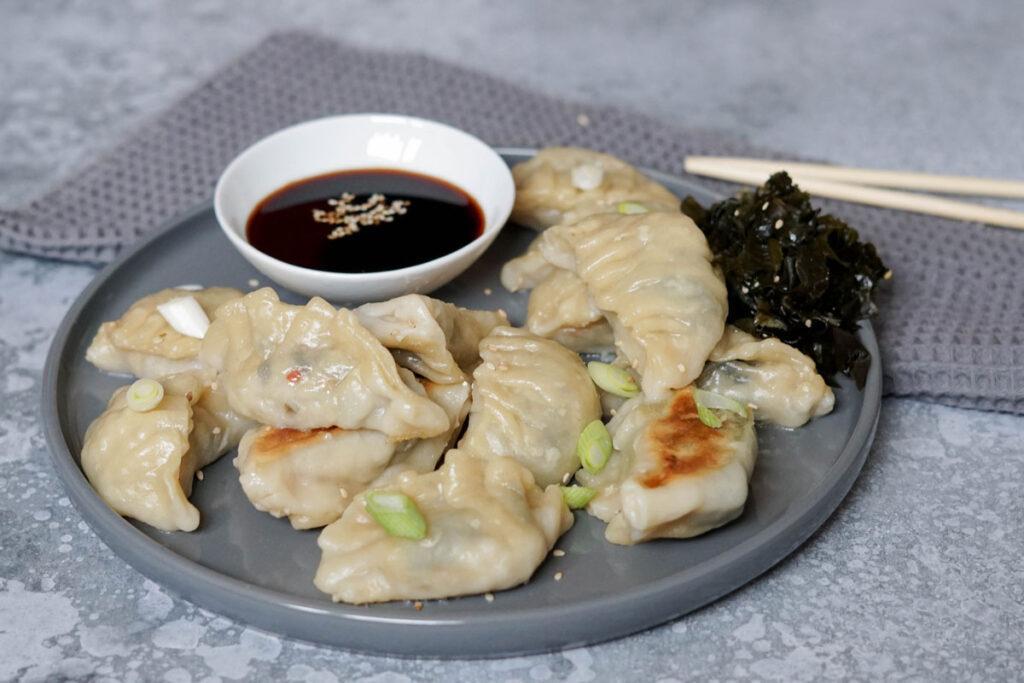 Wakame-Gyoza vegan » asiatische Teigtaschen