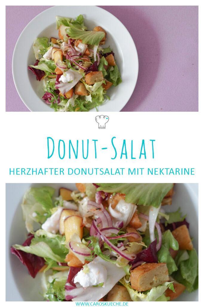 Herzhafter Donut-Salat mit Nektarine