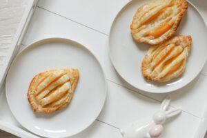 Pfirsich-Ostereier aus Blätterteig