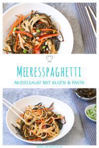 Meeresspaghetti: Nudelsalat mit Algenpasta & Limetten-Chili-Dressing