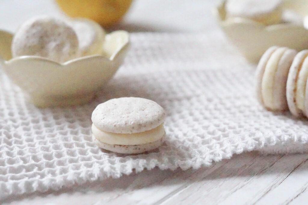Vegane Macarons mit Zitronenfüllung