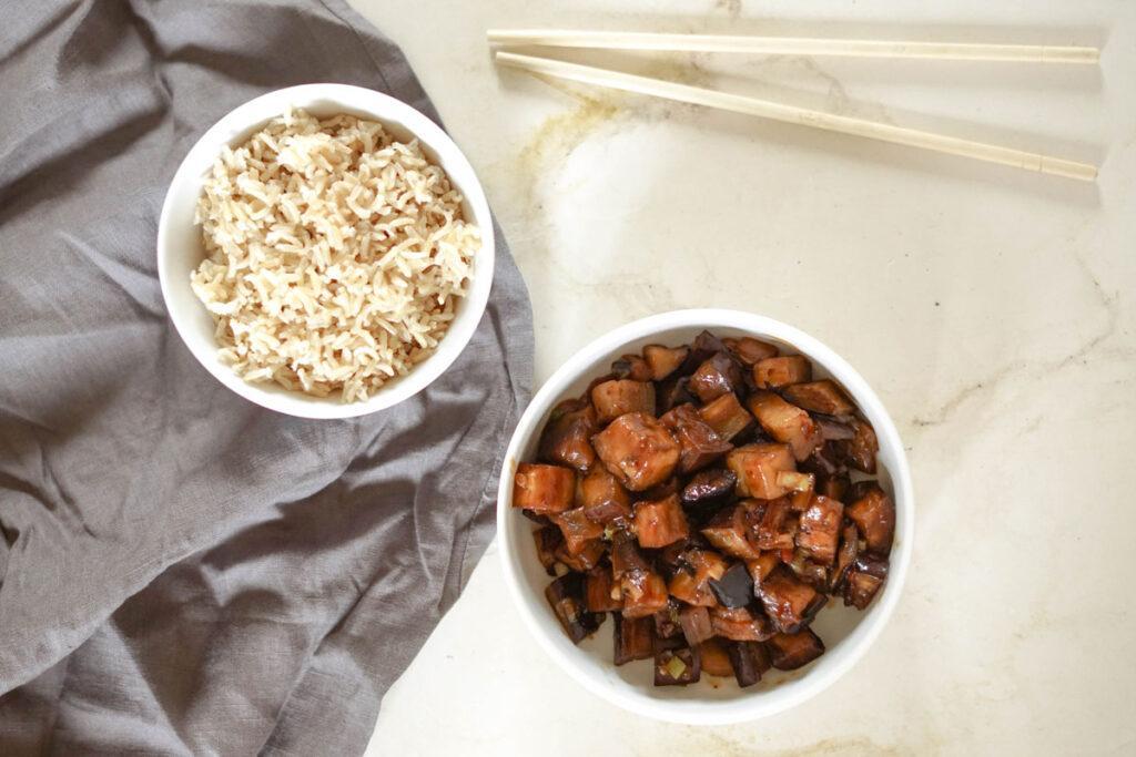 Aubergine Szechuan-Art » einfaches chinesisches Rezept
