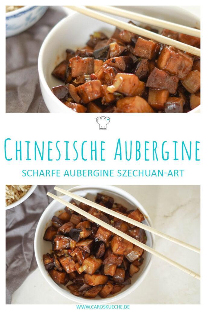 Chinesische Aubergine: Auberginen Szechuan-Art » einfaches veganes Rezept mit Aubergine (asiatisch)