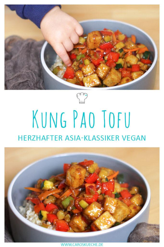 Kung Pao Tofu veganes Rezept mit Reis