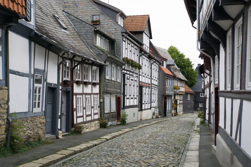 Innenstadt von Goslar: Viele Fachwerkhäuser