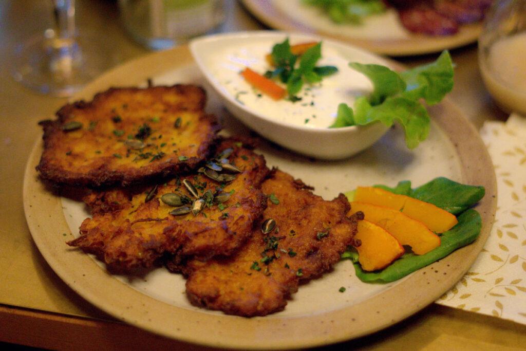 Essen im Rodelhaus Braunlage: Kürbispuffer als saisonale Besonderheit