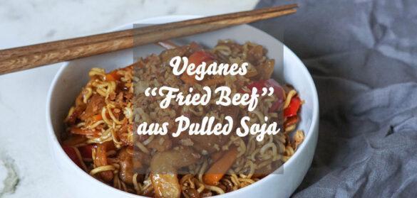 Veganes Fried Beef aus Pulled Soja